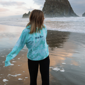 Crystal Wash Embroidered Hoodie - Shelly Cove