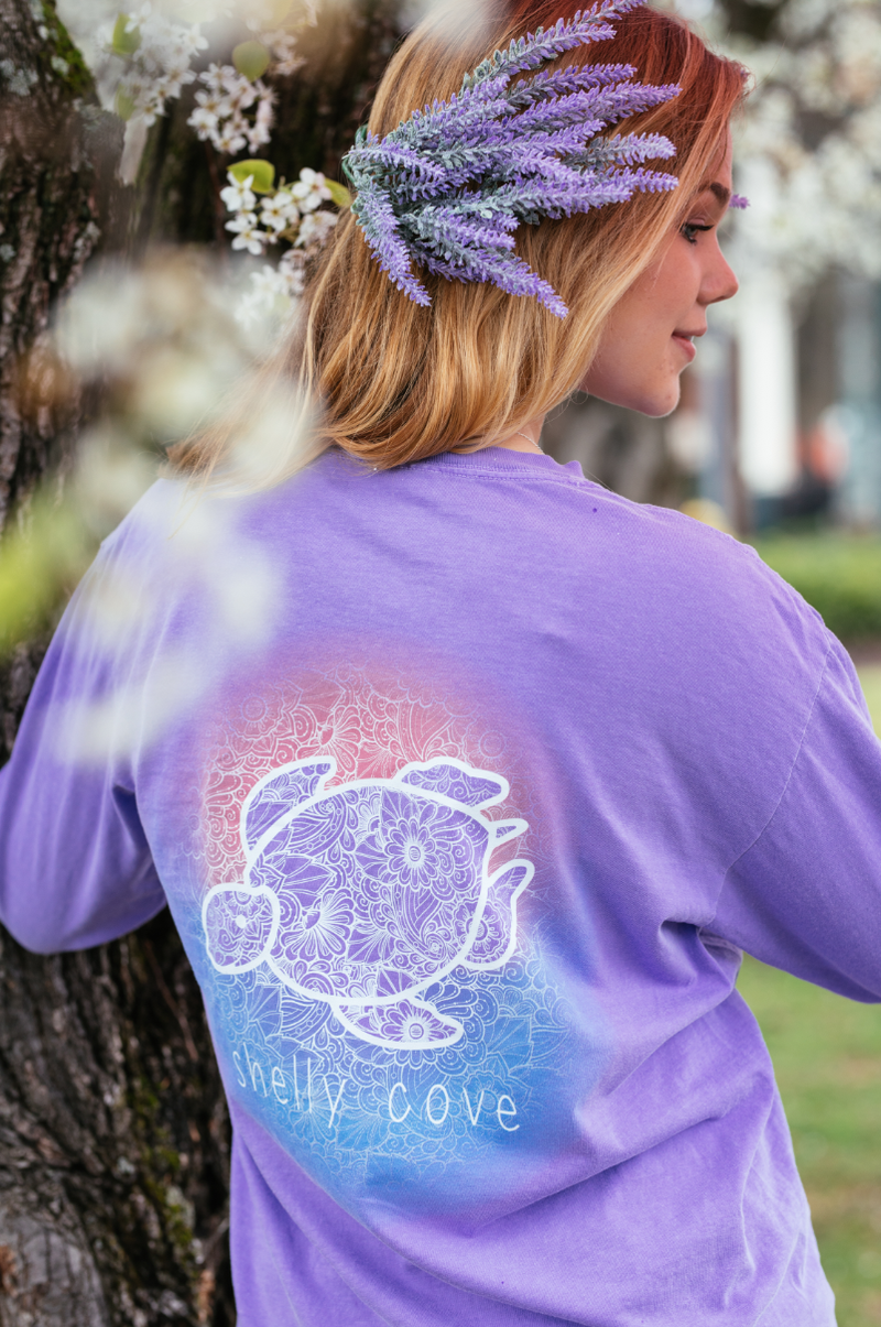 Aurora Long Sleeve Tee - Shelly Cove