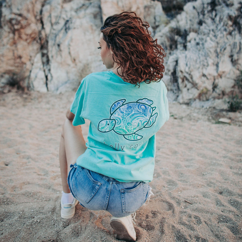 Mint Ivy Heart Short Sleeve Tee - Shelly Cove