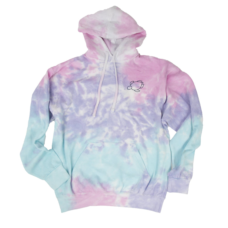Cotton Candy Tie-Dye Hoodie - Shelly Cove