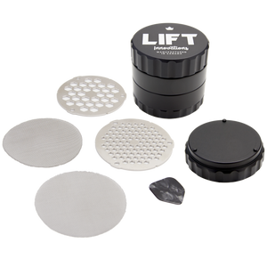 4 Piece BLACK Grinder with Accessories PRE-ORDER for shipping on October 9th, 2020 (we need some time to catch up on backorders)