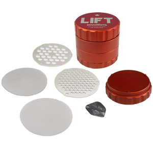 PRE-ORDER 4 Piece RED Grinder with Accessories SHIPS JUNE 28, 2019