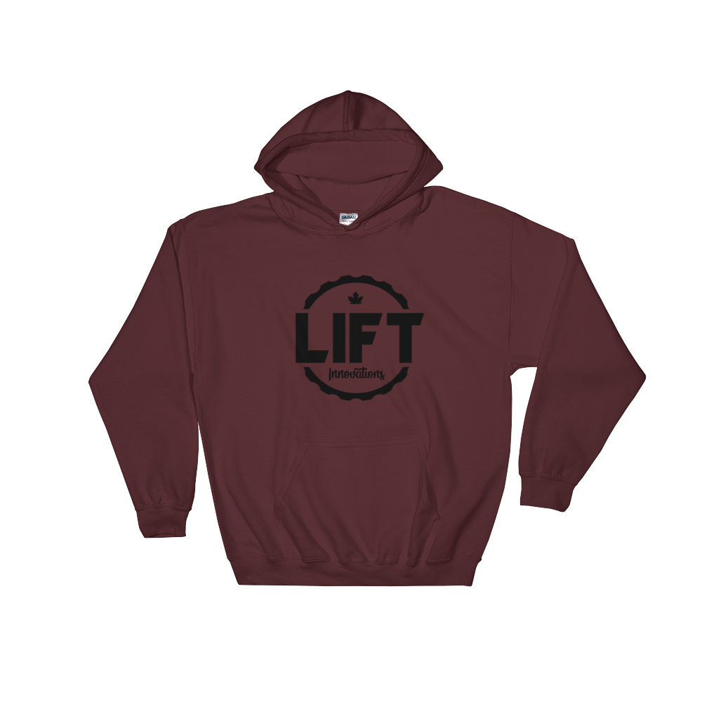 Hooded Sweatshirt (MAROON) FREE SHIPPING to USA, Europe (see list in description)