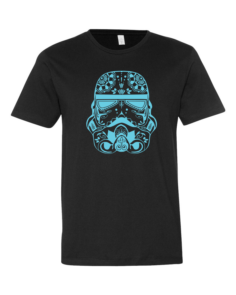 Blue Sugar Skull Stormtrooper Shirt