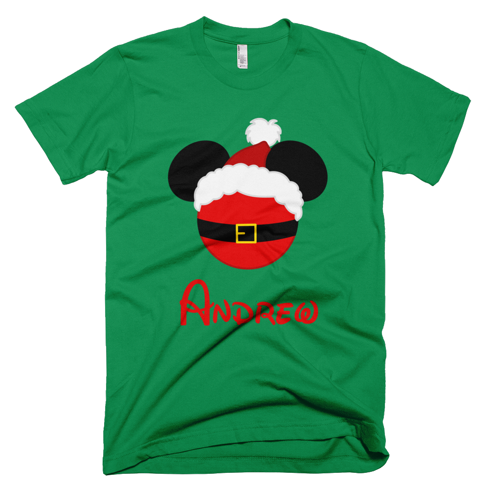 Personalized Santa Claus Mickey Shirt