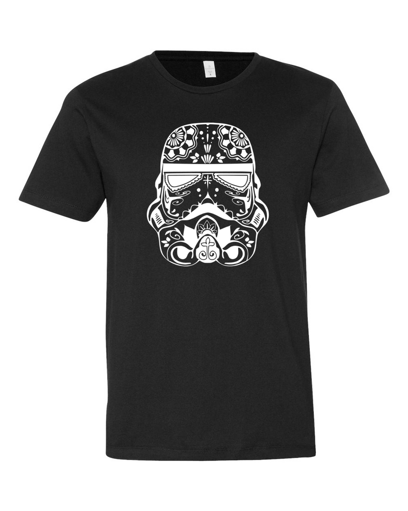 White Sugar Skull Stormtrooper Shirt