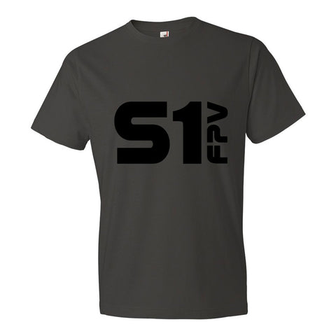 S1 FPV men's fashion tee shirt - smoke grey