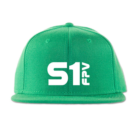 S1 FPV 3D puff embroidered hat in kelly green