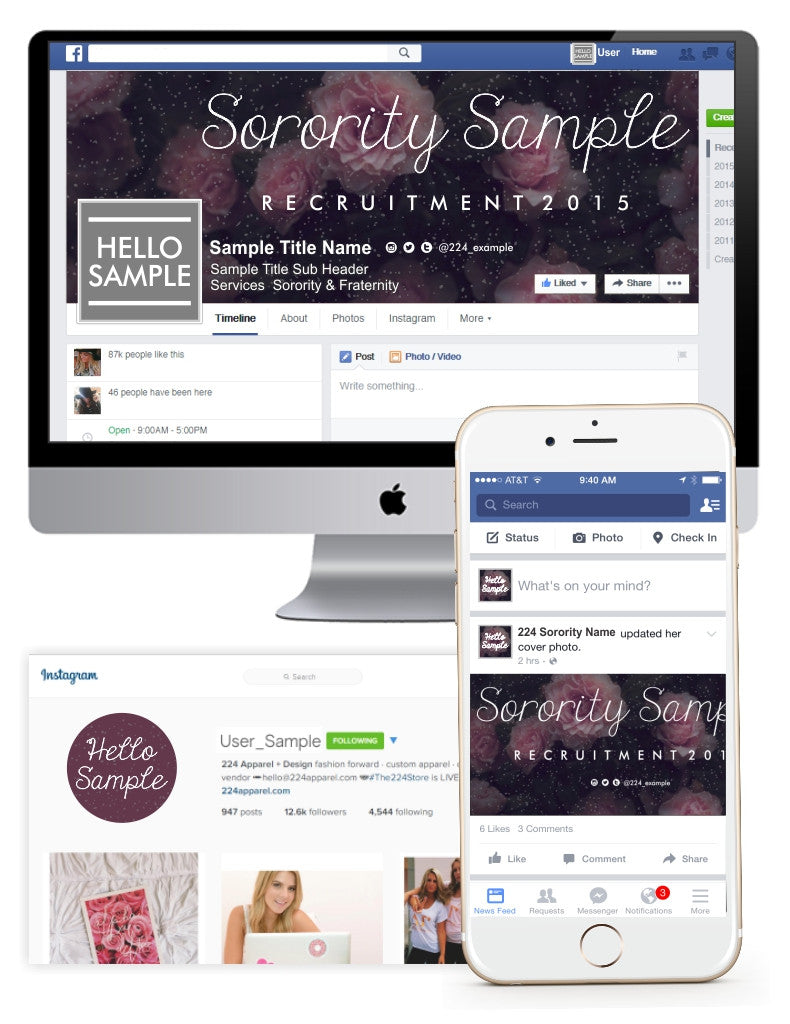 Sparkling Bouquet Customized Social Media Package