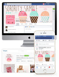 Strawberry Sprinkles Customized Social Media Package