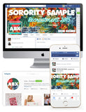 Tropical Hibiscus Customized Social Media Package