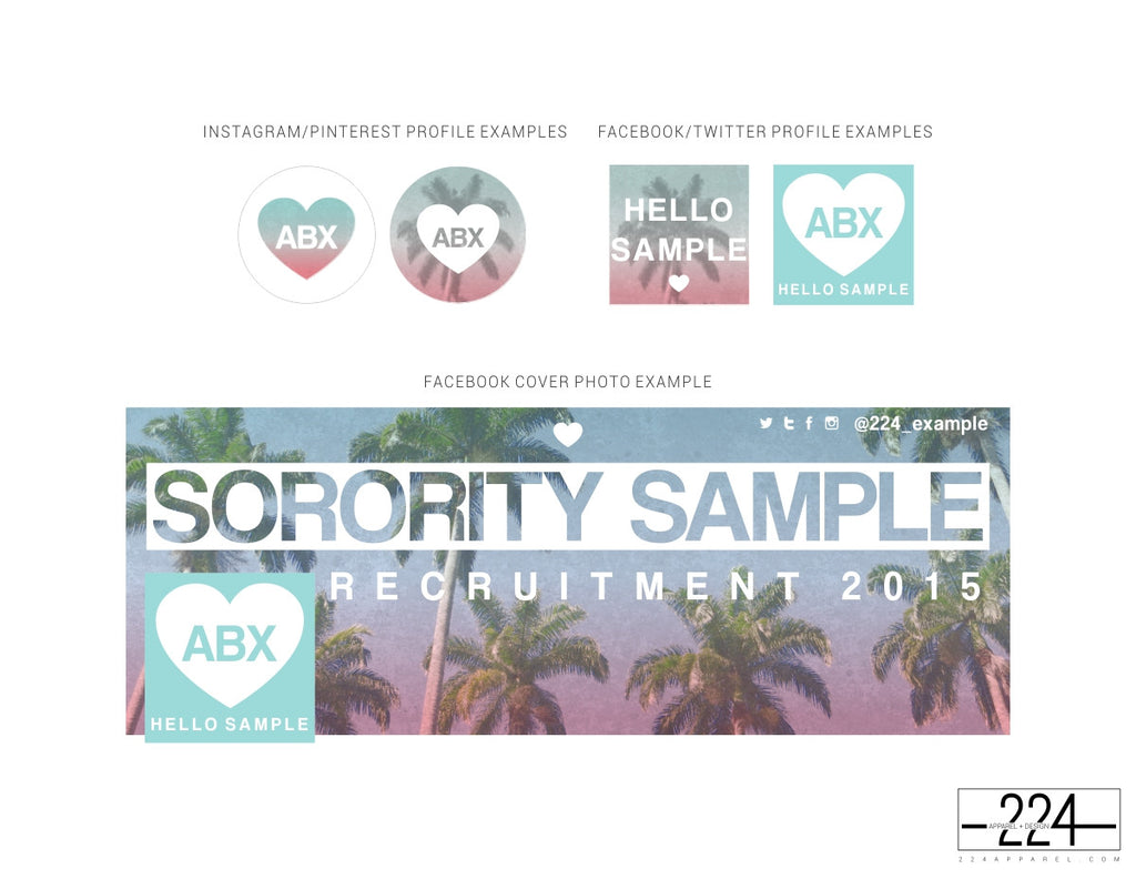Pastel Palms Customized Social Media Package