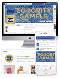 Santorini Tile Customized Social Media Package