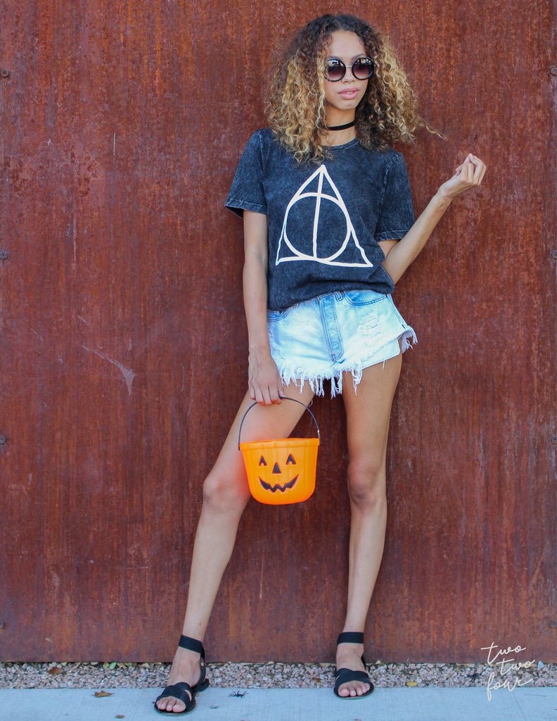 Halloween Geometric Hallows Tee