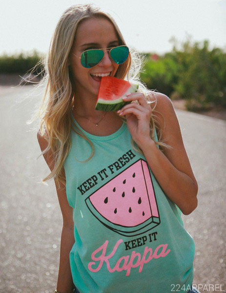 Kappa Kappa Gamma Keep It Fresh Watermelon Tank