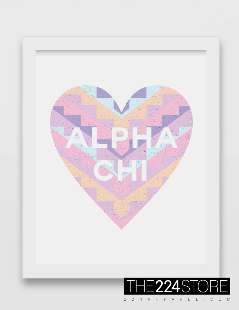 Geometric Heart Alpha Chi