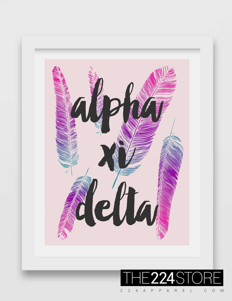 Alpha Xi Delta Gradient Feathers