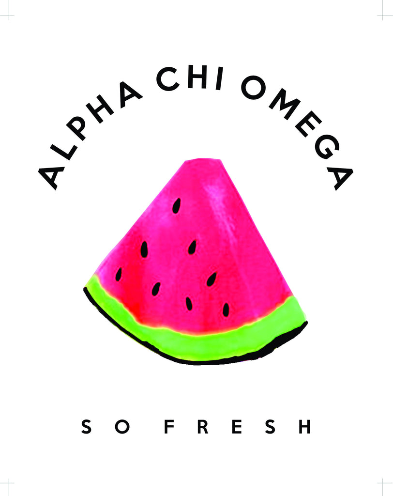 Alpha Chi Omega Watermelon