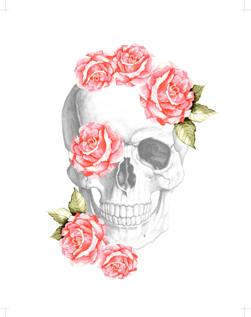 Beauty Never Dies Floral Skull