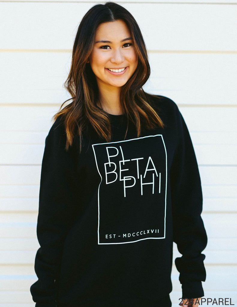 Pi Beta Phi Modern Fleece Sweatshirt