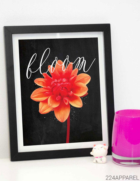 Flower in Bloom Calligraphy