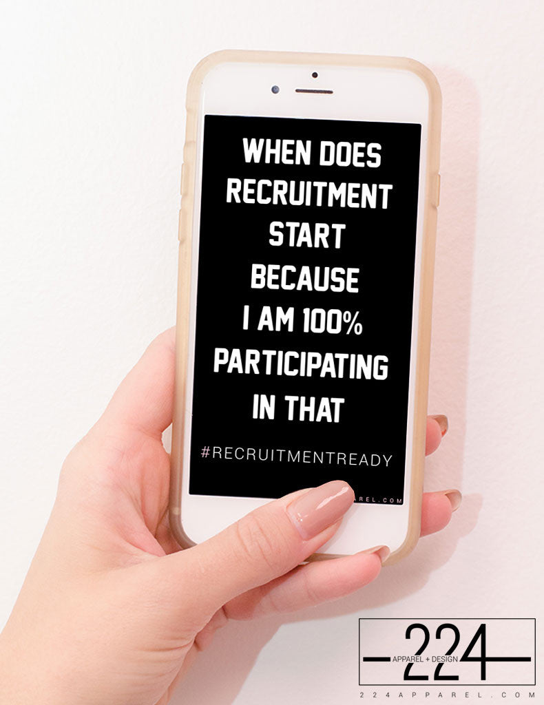 100% Participating #RecruitmentReady iPhone Wallpaper FREE Instant Download!