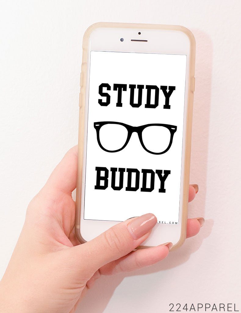 #FinalsReady Study Buddy iPhone Wallpaper FREE Instant Download!