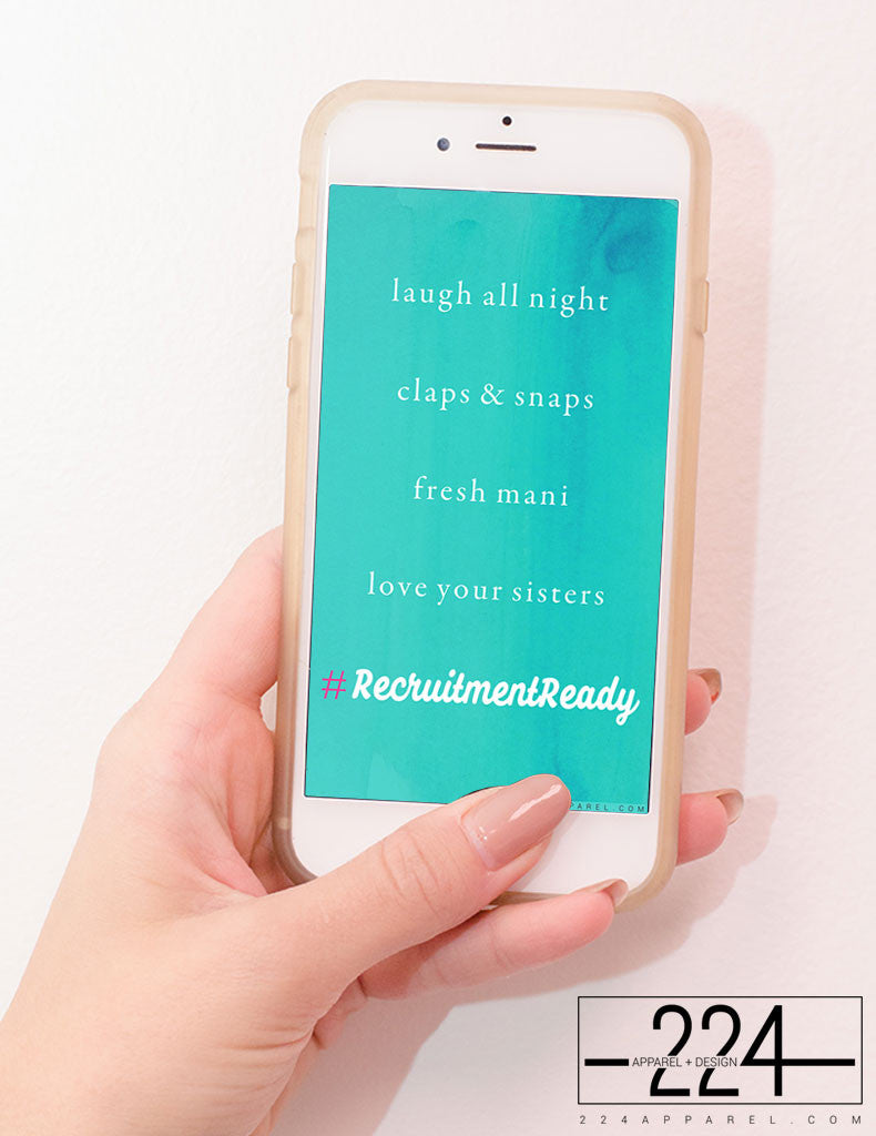 #RecruitmentReady Watercolor iPhone Wallpaper FREE Instant Download!