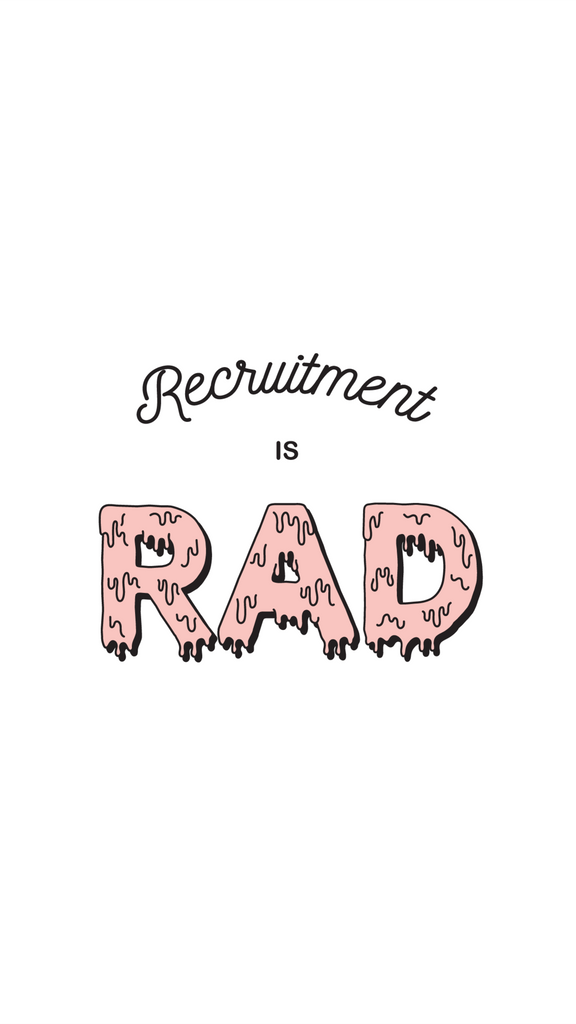 Recruitment is Rad IPHONE WALLPAPER FREE INSTANT DOWNLOAD!