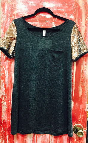 Glitter Sleeve Top