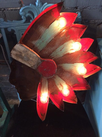 Lighted Indian Head