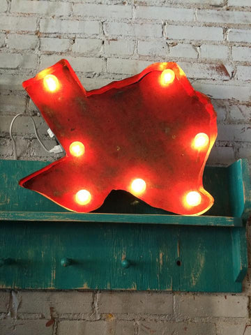 Lighted Texas Sign