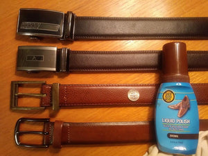 Can you use leather shoe polish on belts?