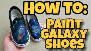 How to Paint Galaxy Design - Custom Vans