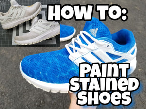 How to Paint Stained Shoes - White Adidas Restoration & Customization