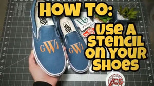 How to Properly Use a Stencil - Custom Vans