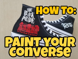 The Black Parade Chucks - Converse Customization