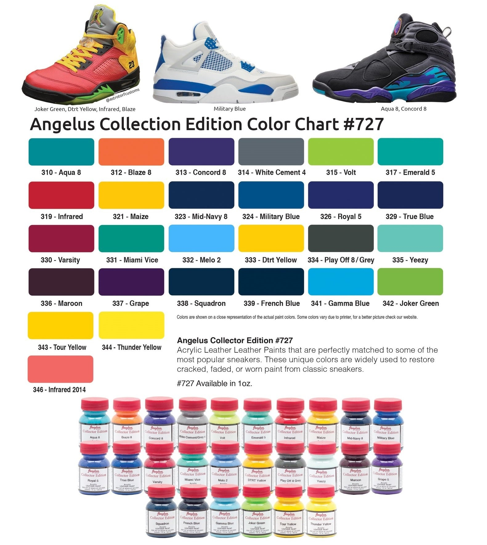 Angelus paint dye color charts nvjuhfo Image collections