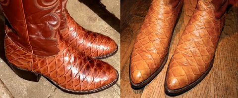 Source: Style Forum - Lucchese cowboy boots made from anteater