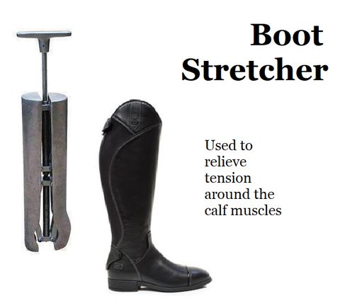 Boot Stretcher used to relieve tension around the calf muslces Boot Instep & Shaft Stretchers