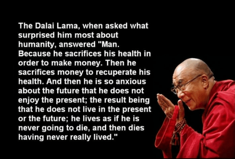 Dalai Lama on foot health