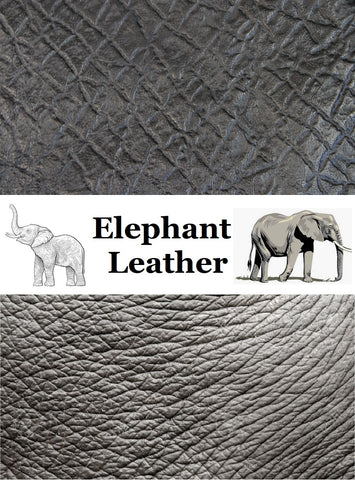 Picture:  American Exotics & 123RF.com- elephant leather hides
