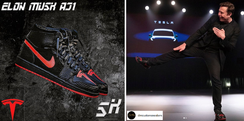 Elon DM Customs Customized Shoe