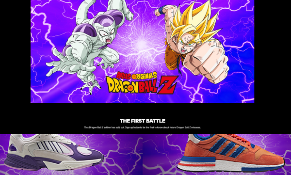 7eeac20c61c Freiza Goku. The beloved Dragon Ball Z franchise recently partnered with  shoe magnate Adidas to bring the nostalgic adults with discretionary income  a way ...