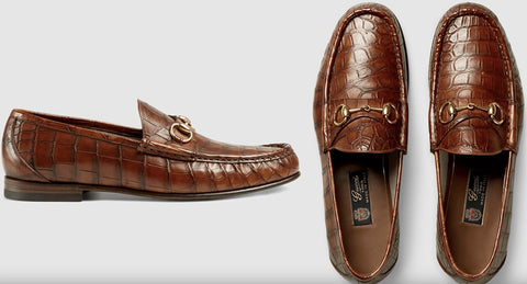 Source: Gentleman's Gazette - Gucci Horsebit Loafer in brown crocodile leather retail price $2,600