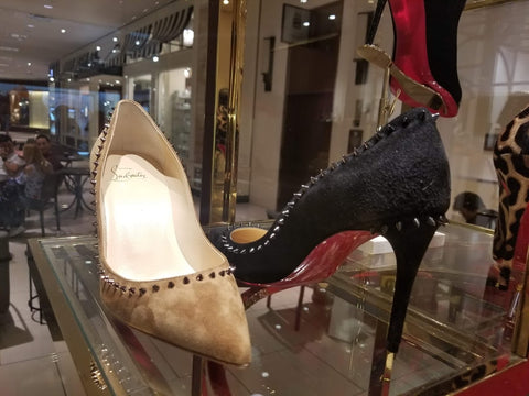 1b0557f68192 Louboutins spikes suede and black