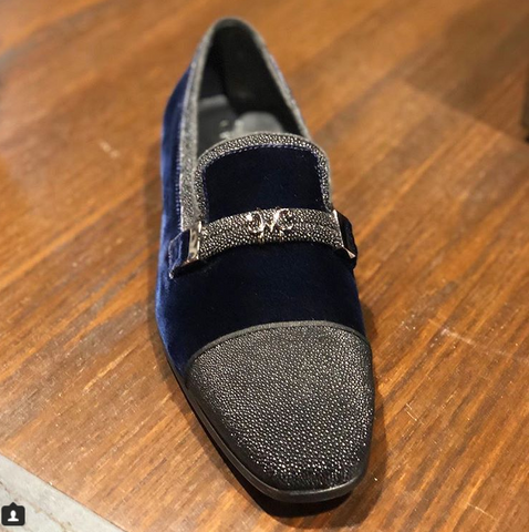 Lusso_Dark_Blue_velvet_stingray_and_suede