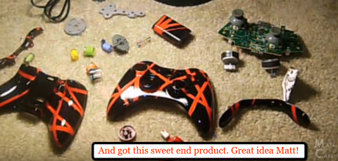 How To Custom Paint Your Xbox Controller https://www.youtube.com/watch?v=dMk9O1fZ3Vg&t=187s orange black xbox controller