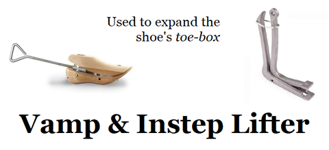 Vamp and Instep Lifter - used to expand the shoes toe box shoe stretcher