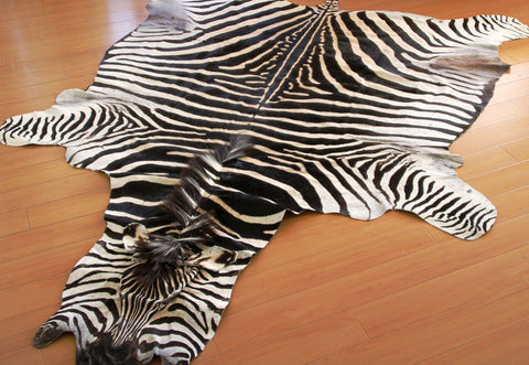 Picture: Roje Leather - zebra hide used as a rug